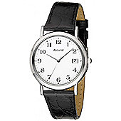 Accurist Gents Black Leather Strap Watch MS708WA