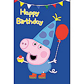 Peppa Pig Brother George Pig Birthday Card