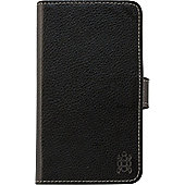 "Tortoiseâ""¢ Genuine Leather Folio Case with Inside Pockets, Nokia Lumia 630/635, Black."