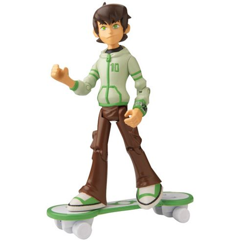 Ben 10 Omniverse Alien Collection Figure - Ben Tennyson in Hoody with Skateboard