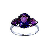 QP Jewellers 4.0ct Amethyst Vogue Ring in 14K White Gold