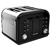 Morphy Richards 242002 Accents 4 Slice Toaster - Black