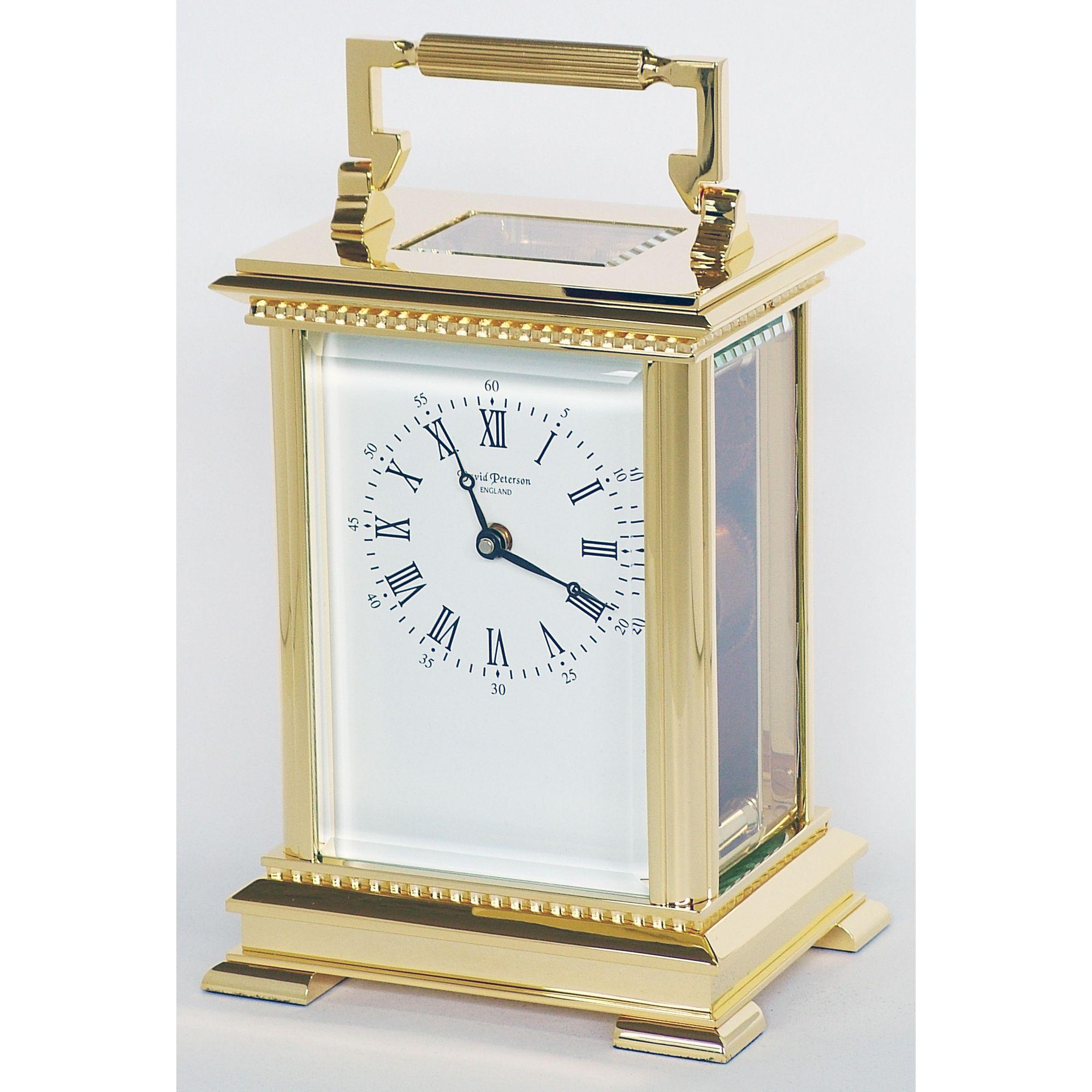 David Peterson Ltd 8 Day Grande Anglais Corinthian Carriage Clock at Tesco Direct
