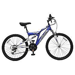 "Terrain Atlas 24"" Dual Suspension Mountain Bike, Blue"