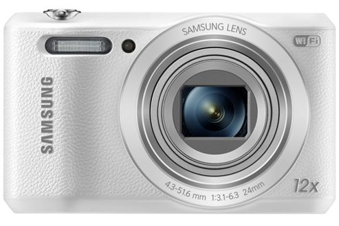 Samsung WB35F Smart Digital Camera, White, 16.2MP, 12x Opical Zoom, 2.7