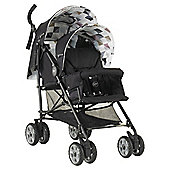 My Child Sienta Duo Geo Tandem Pushchair, Black