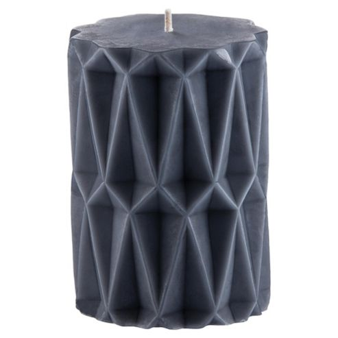 Tesco Pillar Candle Small Grey