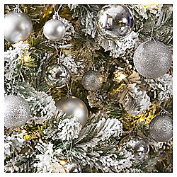 Christmas Baubles, Sliver, 40 pack