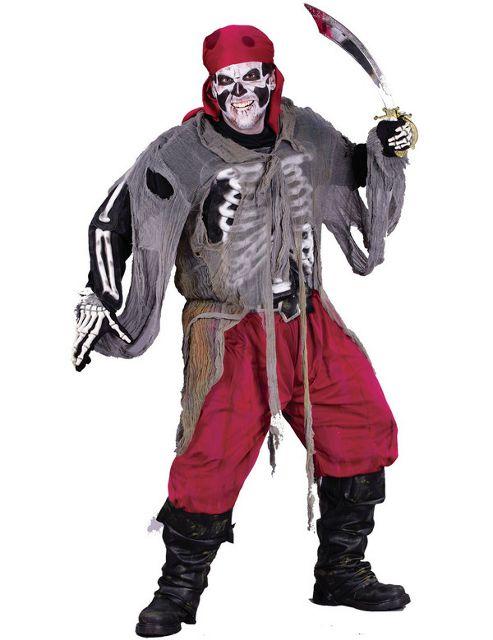 Buccaneer Bones Zombie Pirate Costume