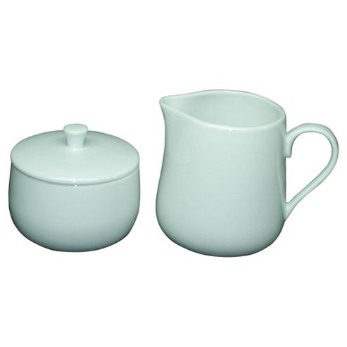 Tesco Porcelain Sugar Bowl and Jug Set, White