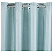 "Faux Silk Eyelet Curtains W112xL183cm (44x72""), Eau De Nil"