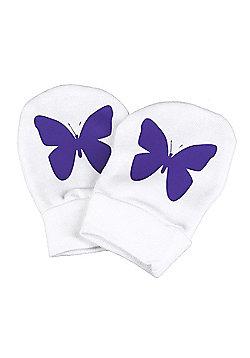 Spoilt Rotten - Butterfly Design 100% Organic Cotton Scratch Mittens