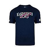 England 2015 Script T-Shirt - Navy