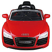 12V Audi R8 Ride on Car Red
