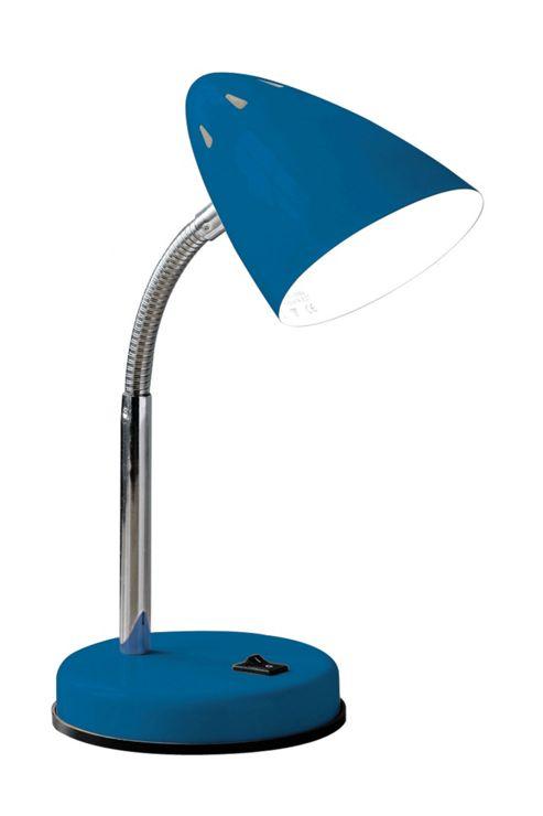 Premier Housewares Flexi Desk Lamp - Blue