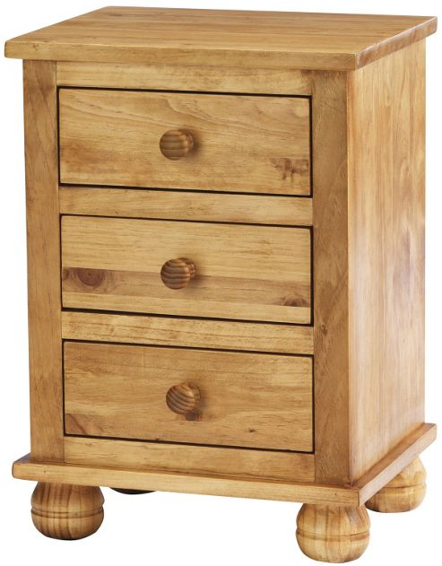 Antique dorset solid pine bedside cabinet Tesco home bedroom furniture