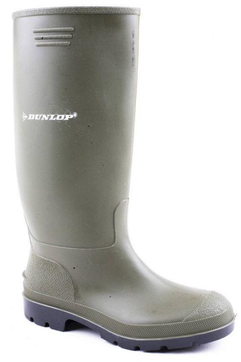 Dunlop Mens Pricemaster Green Wellington Boots
