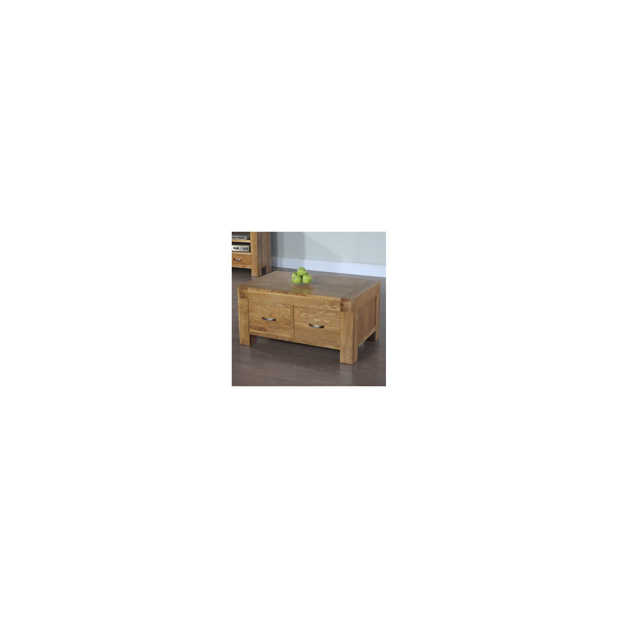 Hawkshead Rustic Oak Blonde 2 Drawer Coffee Table at Tesco Direct