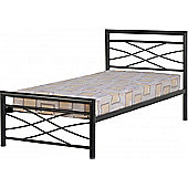 ValuFurniture Kelly 3 Black Single Bed