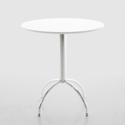 Aspect Design Stefano Kitchen Table - 70cm - Wooden Table Top in White