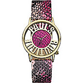 Paul's Boutique Ladies Pink Snake Pattern Watch - PA027PKGD