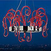 Leucos Aspid S65 Pendant - Red