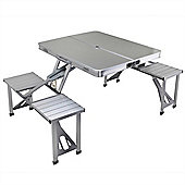 Palm Springs 'Briefcase' 4 Person Portable Aluminium Picnic Table And Chairs Set