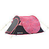 Regatta 2 Man Malawi Outdoor Pop-Up Tent with Pattern Pink