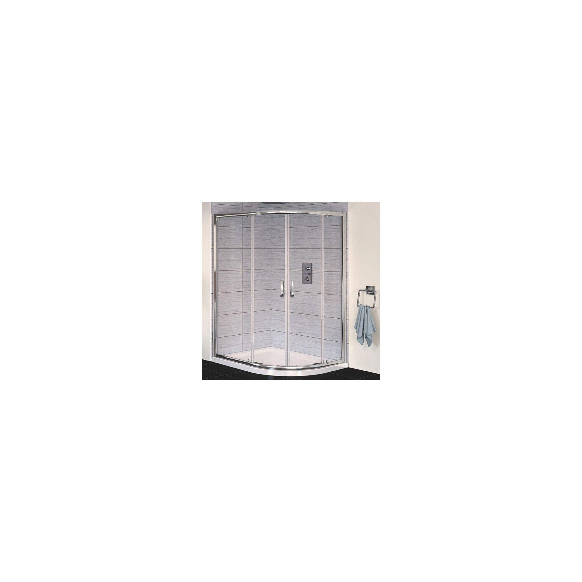 Aqualux AQUA6 Offset Quadrant Shower Door, 1200mm x 800mm, Polished Silver Frame, 6mm Glass at Tesco Direct