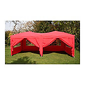 Airwave Pop Up Gazebo Fully Waterproof 6x3m in Red