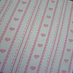 Girls, Baby Pink Love Heart Fitted Sheet and Pillowcase Set