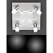 Action Oxford Four Light Halogen High Volt Wall Light in Matt Nickel