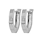 QP Jewellers Hoop Earrings in Sterling Silver