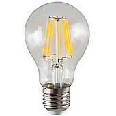 Vintage 8W LED Filament Clear GLS Lightbulb ES E27 - Warm White