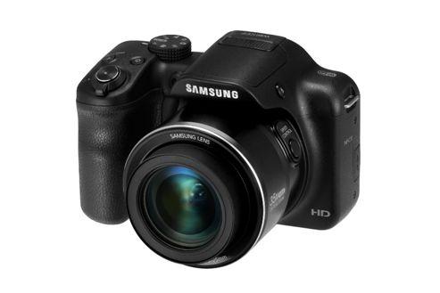 Samsung WB1100F Smart Digital Camera, Black, 16.2MP, 35x Optical Zoom, 3