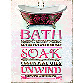 Tranquillity Bath Soak Unwind The Ultimate Relaxation Tin Sign