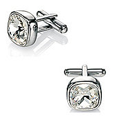 Fred Bennett Swarovski Crystal Stainless Steel Cufflinks
