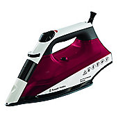 Russell Hobbs 2400W Auto Steam Non-Stick Soleplate Iron - Red