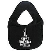 Dirty Fingers Happy 1st Birthday to me! Baby Bib Black
