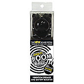 Mighty Boom Ball Vibrating Speaker with Battery Booster, Black