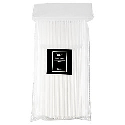 Tesco Clear Straws, 120 Pack