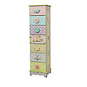 Fantasy Fields Crackled Rose 7 Drawer Cabinet