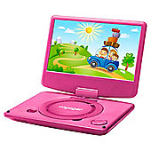 Voyager Portable DVD Player with 9 Inch Screen Pink