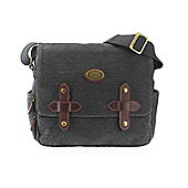 TRP0355 Troop London Dorchester Canvas Across Body Bag Black