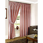 Faux Silk Lined Pencil Pleat Pink Curtains & Tiebacks - 46 x 54 Inches
