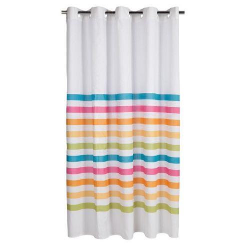 Tesco Bright Stripe Shower Curtain
