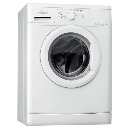 Whirlpool WWDC6400 Washing Machine, 6kg Wash Load, 1400 RPM Spin, A+ Energy Rating, White