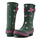Evercreatures Ladies Short Wellies Chicken Print Pattern 4
