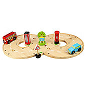 Bigjigs Wooden Road Roundabout Set