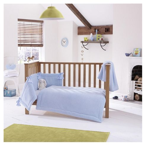 buy clair de lune 3pc cot bed bedding set honeycomb blue from our all baby toddler bedding